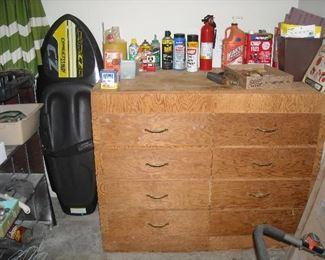 Nice old vintage upright storage chest