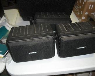 3 Bose video speakers