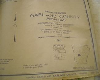 Nice assortment of mid century topographic maps and documents