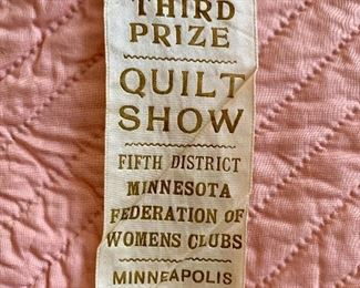 Ribbon on the Quilt from 1935