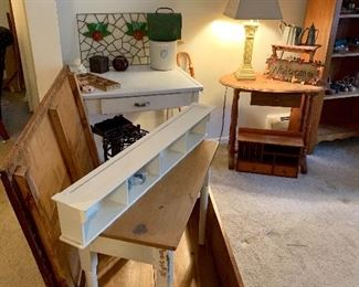 Blanket chest, misc tables