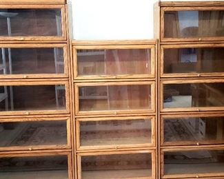 Three Barrister's bookcases