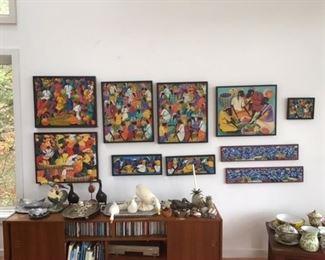 Collection Haitian/Caribbean market scenes