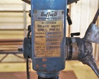 Weld table with Buffalo drill press