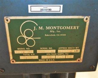 J.M. Montgomery plate bending roller