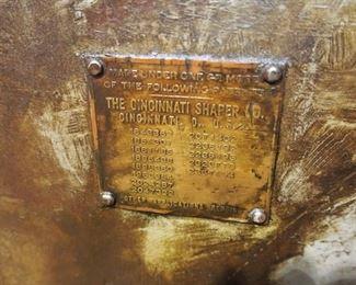 "Cincinnati 2510 shear - cuts up to 3/8"" mild steel"