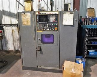 """Amada Pega model 304040 turret punch press, Fanuc P 6M control, a cabinet of die, and tool grinder – handles up to 1/4"""""""