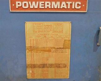 """Powermatic model 87 - 20"""" bandsaw"""
