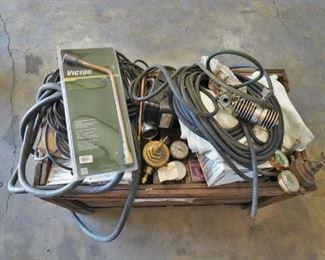 Pallet of misc. welding supplies