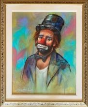 Rare Signed Limited Edition Giclée by Barry Leighton-Jones CLOWN IN TOP HAT