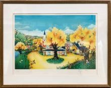 Robert LoGrippo Signed Ltd. Edition Lithograph Entitled THE CIRCUS IS COMING TO TOWN