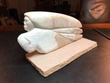 Rare Signed Benson Halwood Alabaster Indian Sculpture