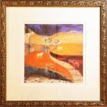 Signed Ltd. Edition Landscape Serigraph by Leo McDowell Entitled LANDSCAPE 1
