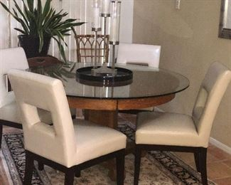 Dining room set with modern chairs
