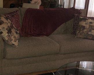 Sofa and decorative pillows