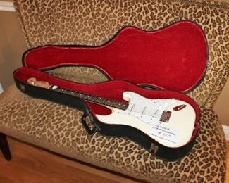 Vintage Fender Stratocaster electric guitar w/ case, whammy bar