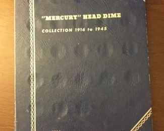 Mercury Head Dime Collection 1916 to 1945 https://ctbids.com/#!/description/share/273073