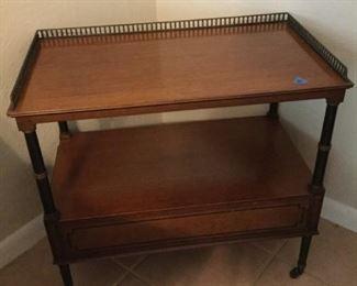 Side Table with Metal Trim https://ctbids.com/#!/description/share/273043