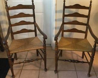 2 Woven Seat Armchairs https://ctbids.com/#!/description/share/273041