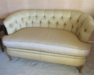 Gold Tufted Settee - elegant and classy