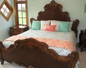 Ornate king size bed