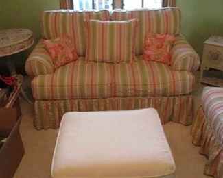 Loveseat and stool