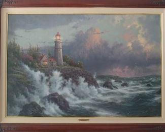 Thomas Kinkaid Collectors Edition Re-Print Painting - $300