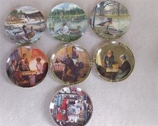 Norman Rockwell, Bert Jerner & Knowels Collector Plates