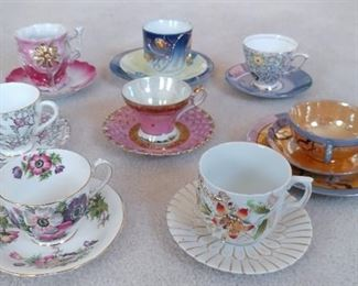 English, German, Japanese Tea Cups & Saucers