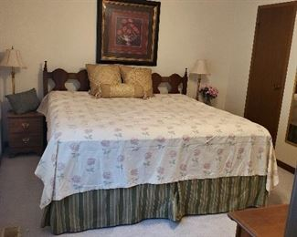 King size bed with headboard, Pillowtop mattress, Med. Soft, Happy to presell at $250 for all of it