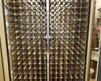 "Vinotemp 2 glass door double compressor lighted  450+ bottle of wine cooler used only 3 years (New $8000 to $10,000) Approx: 50""W x 30""D x 86""H"