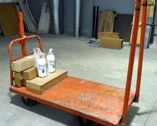 "5' Steel Heavy Duty Rolling Shop Cart, 32"" Wide"