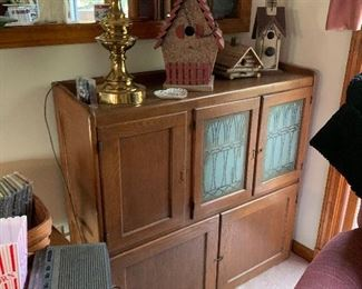 Antique oak Hoosier cabinet top