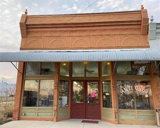 The sale is located in this historic 1890's building located downtown Rice, TX.  It served many decades as the  Fortson Hardware Store.