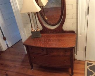 Antique tiger oak vanity
