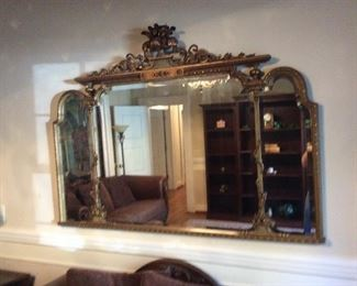 Antique French mirror,heavy!