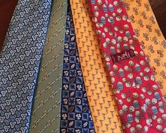 Hermes Ties, Also Gucci & Other Designers Available