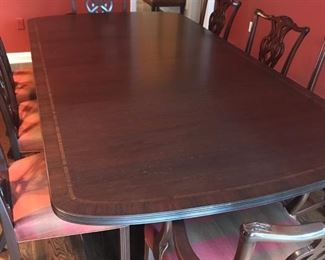 Chippendale Style D/R w 8 Chairs