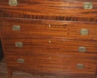Georgian Drop Front Fitted Desk/Chest