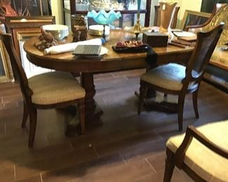 Mid Century Table & 6 Chairs (2 leaves)