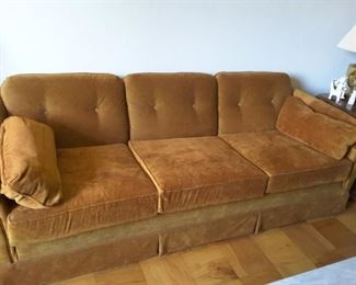Vintage 1970's Rust-Orange - 3 Seater Couch