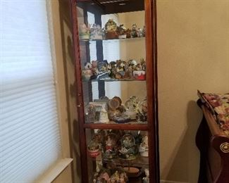 Howard Miller Curio Cabinet - not included but also for sale tons of snow globes and music boxes
