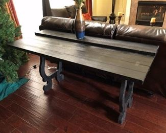 Sofa Table extends to Foyer Table