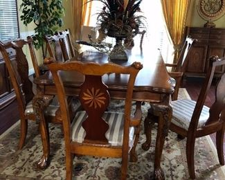Beautiful Inlaid Table & Chairs