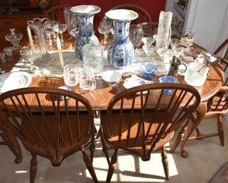 China, Vases, Stemware, Fenton Ice Cream Glasses, Ice Bucket, Martini Set, Salt Dips, More