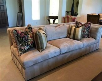 Single Arm Custom Microsuede Couch