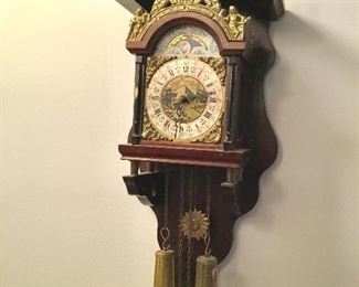 Nice antique pendulum & weights Clock