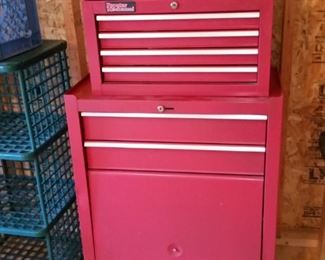 Popular Mechanics brand top and bottom tool chests