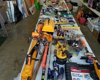 Many Many Many tools  Electric as well as hand tools