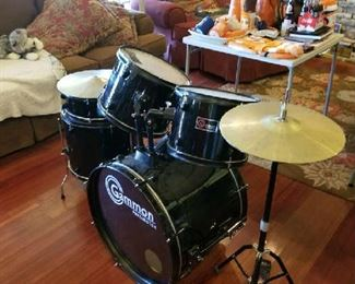 Beginners Drum Kit most pieces are here